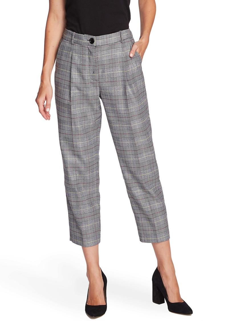 Vince Camuto Glen Plaid Crop Trousers