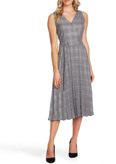 Vince Camuto Glen Plaid Fit & Flare Dress