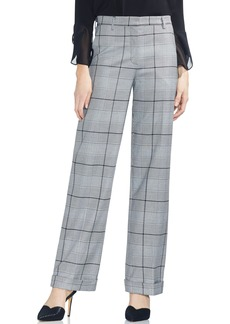 Vince Camuto Glen Plaid Wide Leg Pants