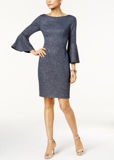 Vince Camuto Glitter Bell-Sleeve Dress