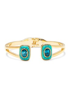 Vince Camuto Goldtone & Blue Ombre Crystal Hinged Cuff Bracelet
