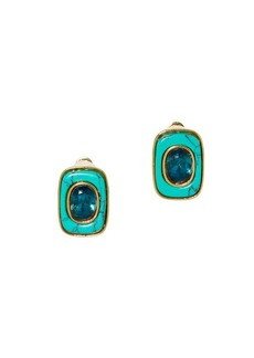 Vince Camuto Goldtone & Crystal Clip-On Earrings