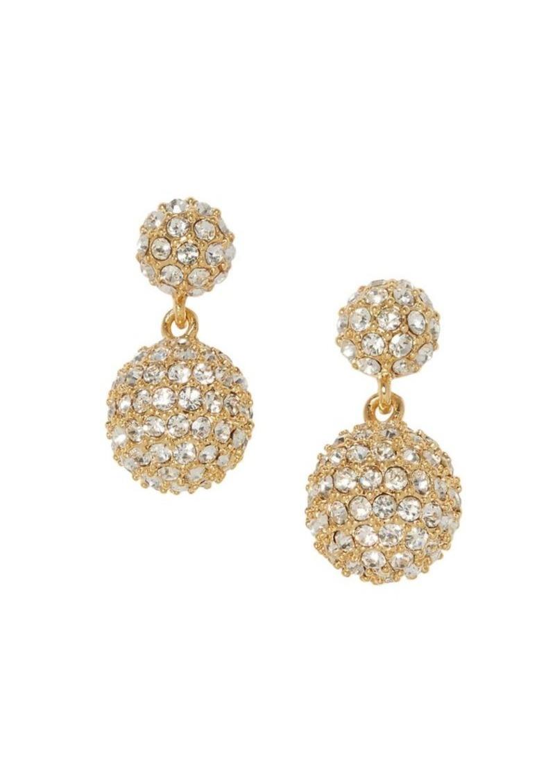 Vince Camuto Goldtone & Crystal Fireball Double Drop Earrings
