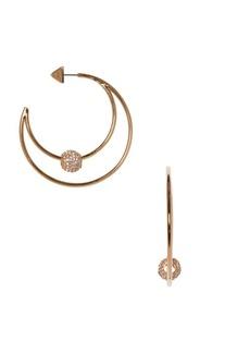 Vince Camuto Goldtone & Crystal Hoop Earrings