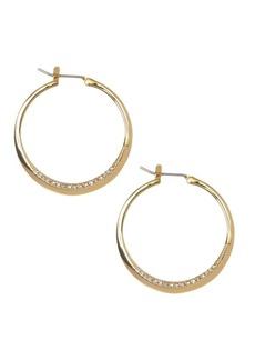 Vince Camuto Crystal Pavé Rim Hoop Earrings