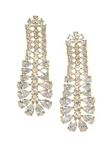 Vince Camuto Goldtone & Crystal Statement Drop Earrings