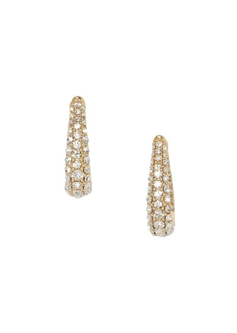Vince Camuto Goldtone & Pavé Crystal Huggie Earrings