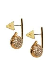 Vince Camuto Goldtone and Crystal Fireball Loop Earrings