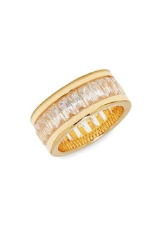 Vince Camuto Goldtone and Cubic Zirconia Baguette Channel Set Ring