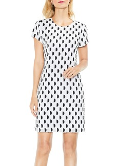 Vince Camuto Graphic Clip Dot Shift Dress