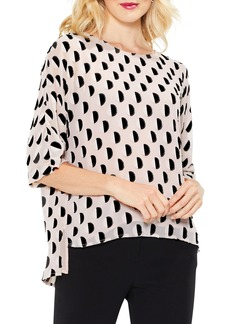 Vince Camuto Graphic Dot Jacquard Blouse