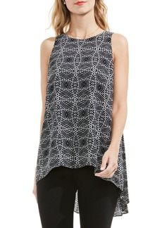 Vince Camuto Graphic High/Low Blouse