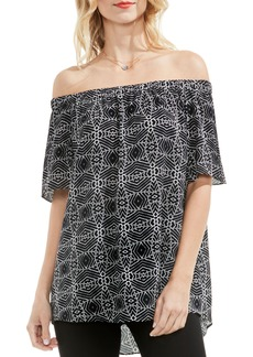 Vince Camuto Graphic Off the Shoulder Blouse