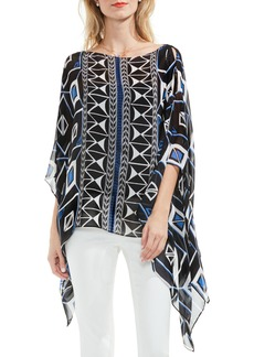 Vince Camuto Graphic Poncho Top