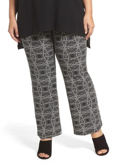 Vince Camuto Graphic Print Pull-On Pants (Plus Size)