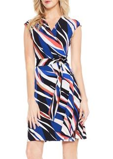 Vince Camuto Graphic Zebra Wrap Dress