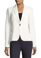Vince Camuto Grid-Knit One-Button Jacket