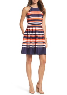 Vince Camuto Halter Fit & Flare Dress
