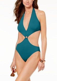 Vince Camuto Halter Monokini One-Piece Swimsuit Women's Swimsuit