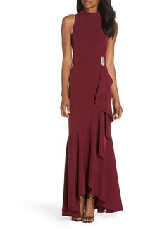 Vince Camuto Halter Neck Gown