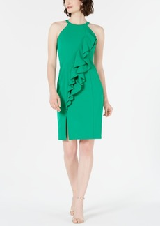 Vince Camuto Halter Ruffle Dress