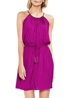 Vince Camuto Halterneck Tie-Waist Dress