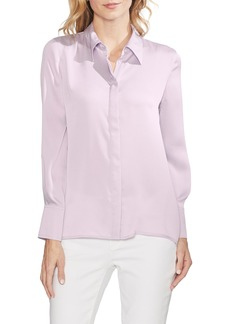 Vince Camuto Hammer Satin Button Down Shirt (Regular & Petite)