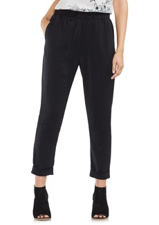 Vince Camuto Hammered Satin Crop Jogger Pants