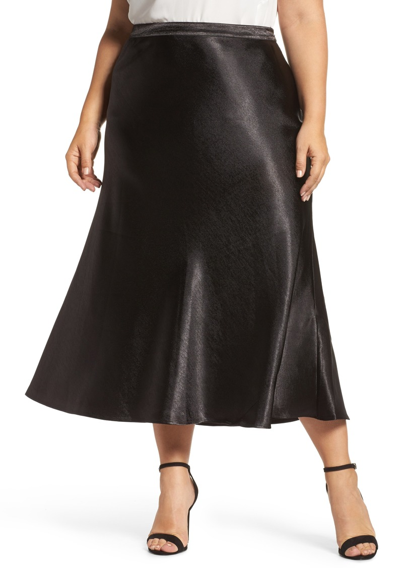 3f93a9010fea8 Vince Camuto Vince Camuto Hammered Satin Maxi Skirt (Plus Size)