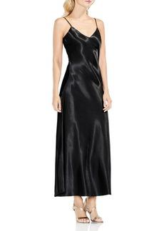 VINCE CAMUTO Hammered Satin Maxi Slip Dress