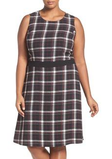 Vince Camuto Harbor Plaid Fit & Flare Dress (Plus Size)