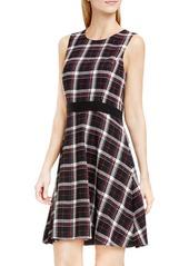 Vince Camuto Harbour Plaid Fit & Flare Dress