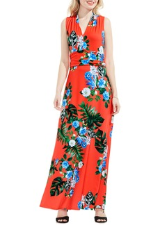 Vince Camuto Havana Tropical Halter Style Maxi Dress
