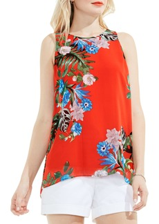 Vince Camuto Havana Tropical High/Low Blouse (Regular & Petite)