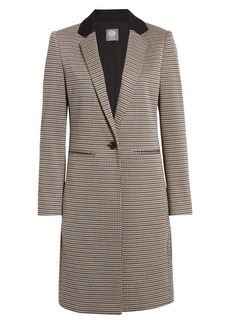 Vince Camuto Heritage Check Notch Collar Coat