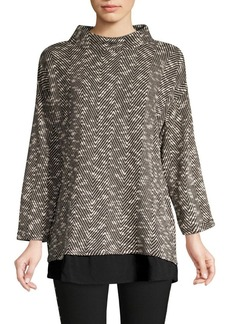 Vince Camuto Herringbone Twofer Top