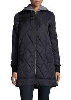 Vince Camuto Hideable Hood Quilted Jacket