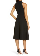 Vince Camuto High Bow Neck Sleeveless A-Line Dress