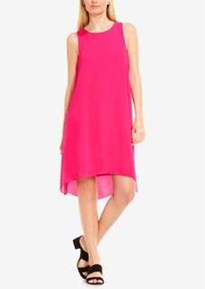 Vince Camuto High-Low Chiffon-Overlay Shift Dress