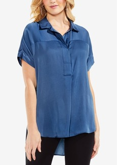 Vince Camuto High-Low Henley Top