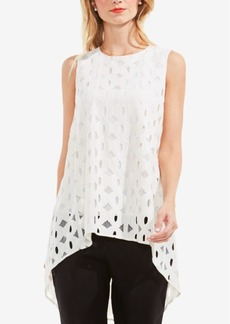 Vince Camuto High-Low Lace Top