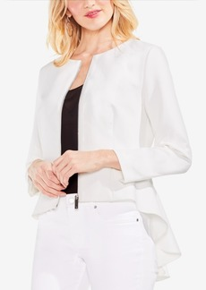Vince Camuto High-Low Ruffled-Back Blazer