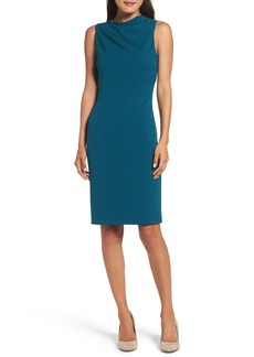 Vince Camuto High Neck Sheath Dress
