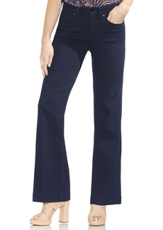 Vince Camuto High Rise Wide Leg Jeans (Dark Rinse)