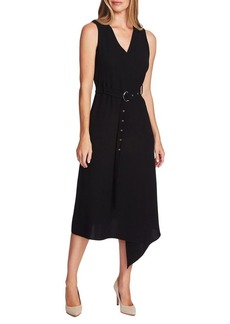 Vince Camuto Highland Crepe Belted Dress