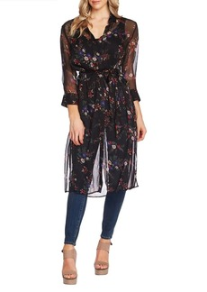 Vince Camuto Highland Floral Belted Tunic
