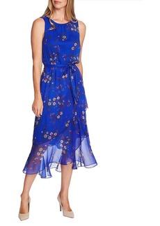 Vince Camuto Highland Floral-Print Belted Dress