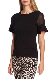 Vince Camuto Highland Mixed-Media Top