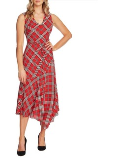 Vince Camuto Highland Plaid Belted A-Line Dress