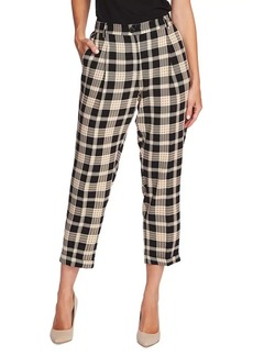 Vince Camuto Highland Plaid Cuffed Tweed Pants